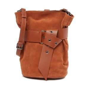 Sam Edelman | Brown Suede Convertible Bucket Bag